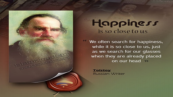 Happiness is so close to us
