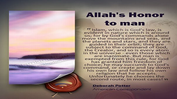 Allah's Honor to man