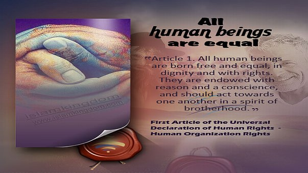 All human beings are equal