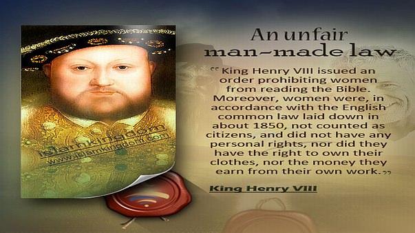 An unfair man-made law