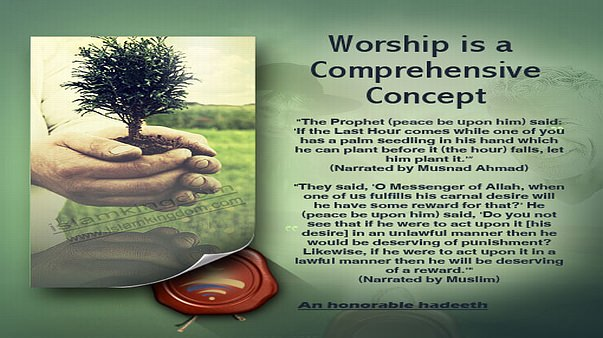 Worship is a Comprehensive Concept