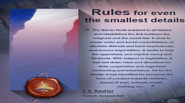 Rules for even the smallest details