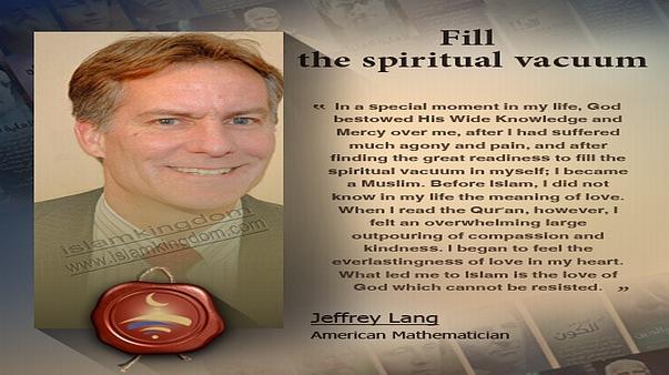 Fill the spiritual vacuum