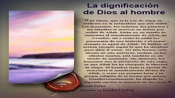 La dignificación de Dios al hombre