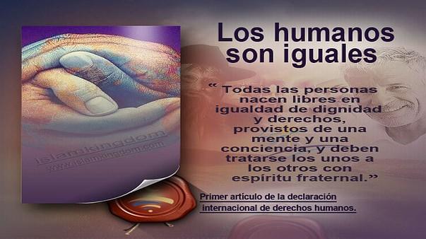 Los humanos son iguales